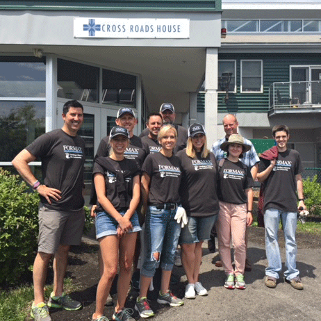 Formax team volunteering at Cross Roads House in Portsmouth, NH