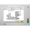 User-friendly color touchscreen control panel