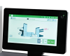 "10"" User-friendly color touchscreen with graphical interface and paper/envelope presence indicators"