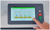 "The user-friendly 7"" touchscreen features an advanced graphical interface, and the ability to program up to 50 jobs"
